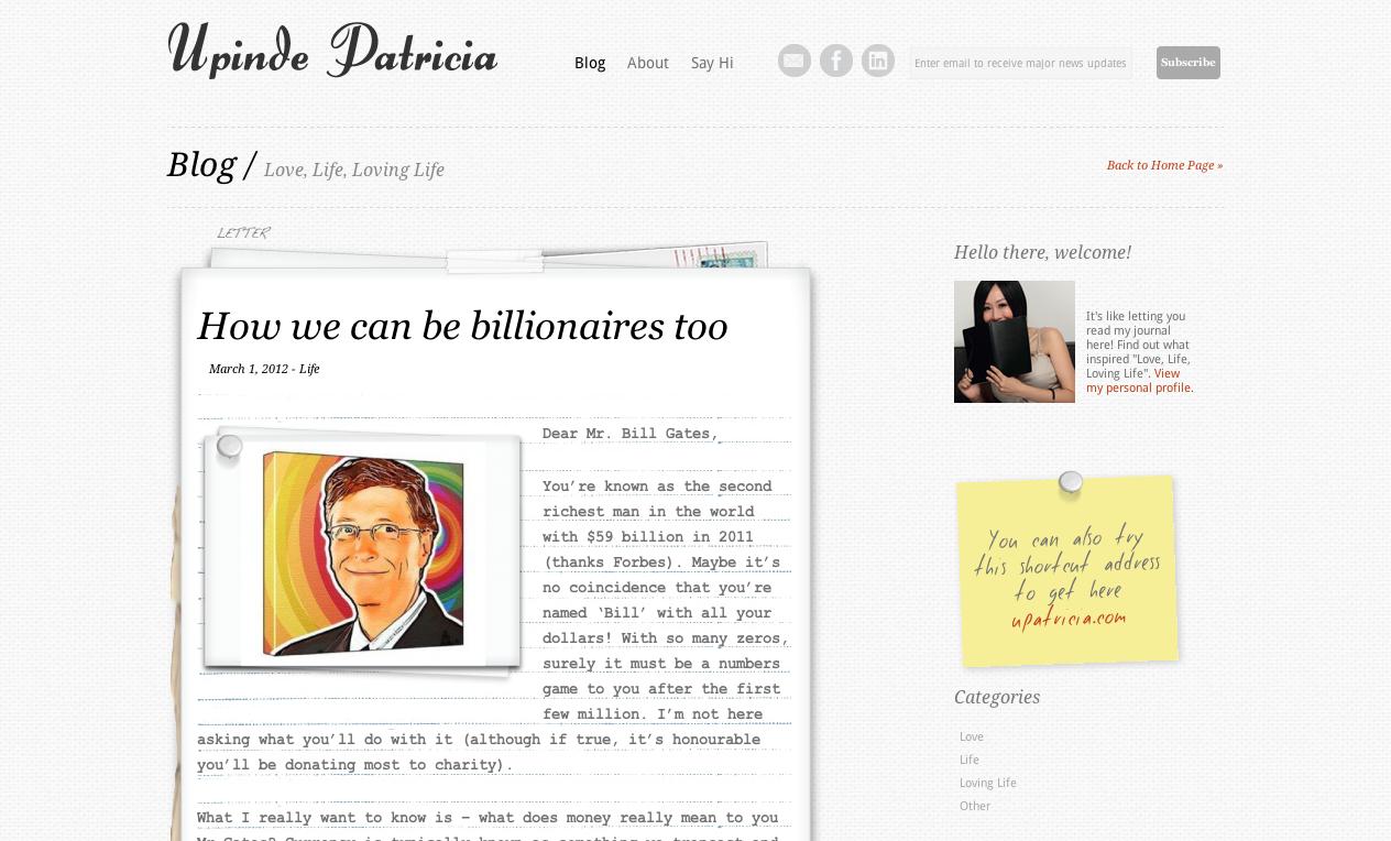 UpindePatricia.com