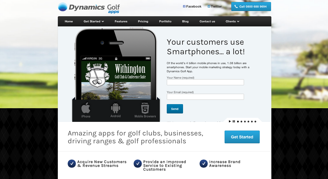 Dynamics Golf Apps